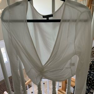 KENDALL AND KYLIE long sleep v neck top